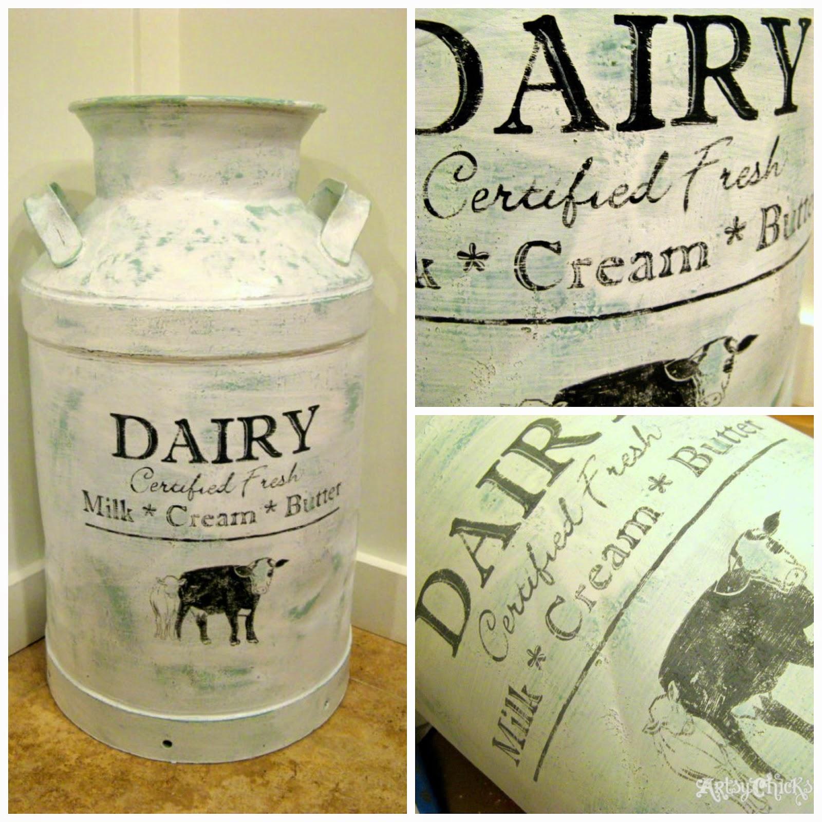 7 pomysłów na bańki decoupage. Jak ozdobić metalową bańkę na mleko, kanka na mleko decoupage.