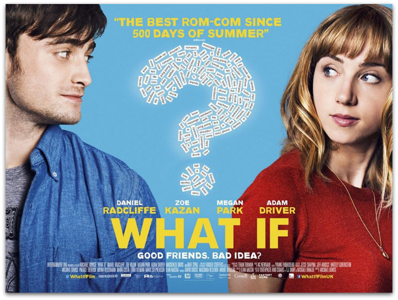 what if poster film daniel radcliffe & zoe kazan