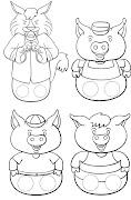 Dibujos para colorear de marionetas para imprimir y pintar marionetas para colorear