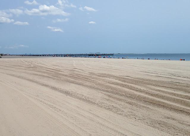 La plage à Coney Island