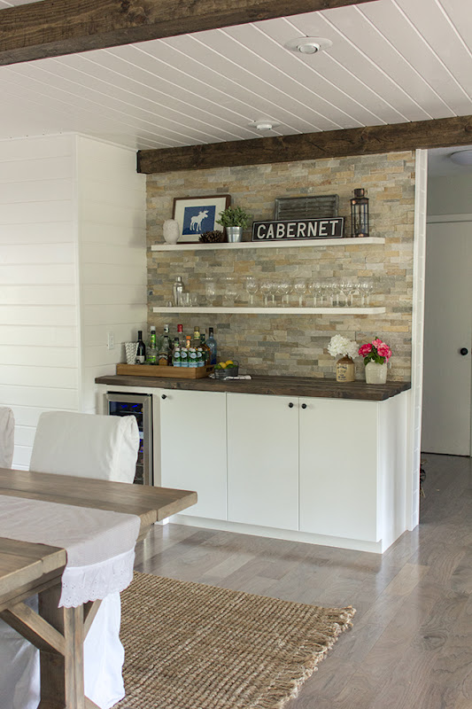 Floating IKEA Wet Bar Cabinets
