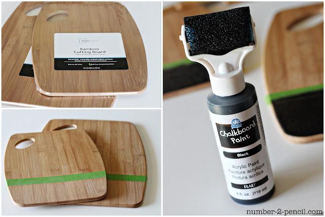 DIY Pintado cucharas y accesorios de cocina Pizarra