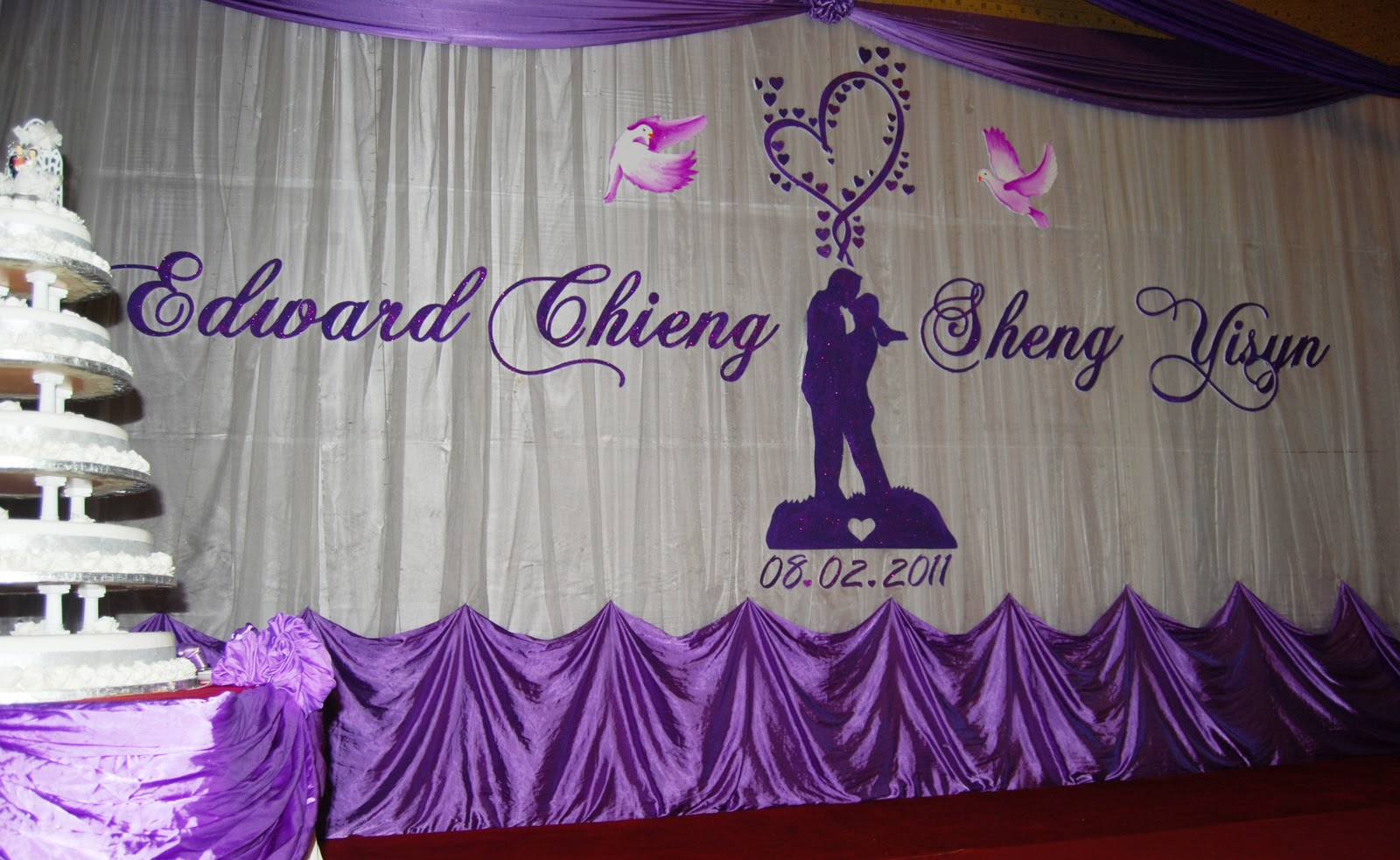 Wedding Backdrop: Wedding backdrop for Edward Chieng & Sheng Yisyn