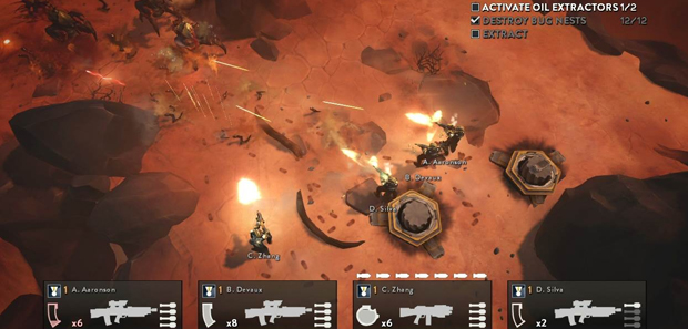Helldivers Off-screen Footage