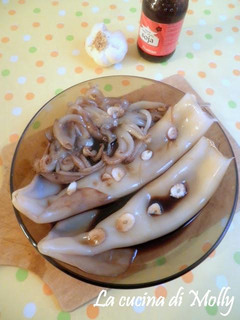 calamari in salsa di soia