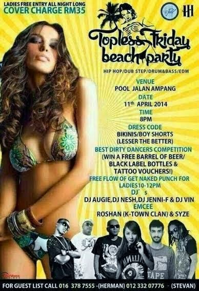 PAMERAN BUAH DADA TOPLESS FRIDAY BEACH PARTY DISAHKAN BAKAL DIANJURKAN DI THE POOL
