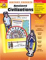 Evan-Moor History Pockets: Ancient Civilizations, Grade 1-3