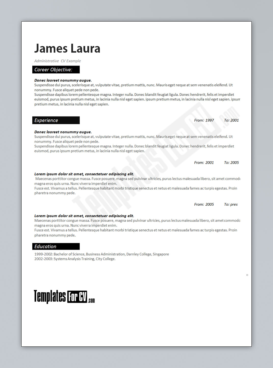 free professional html css cv resume templates other popular free resume templates