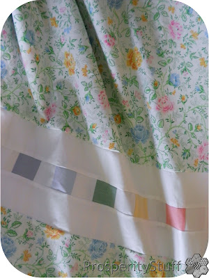 ProsperityStuff Vintage Sheet Quilt Top Kaleidoscope