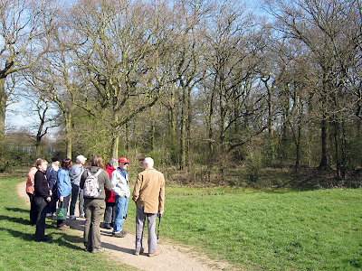 The walk group outside Thornet Wood in Jubilee Country Park