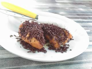 gambar pisang keju susu Cokelat