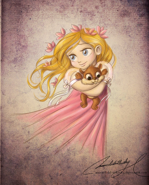 Принцессы Диснея - Страница 2 Child_giselle_by_moonchildinthesky-d3e3wwi