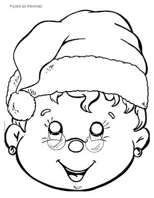 Papai Noel para colorir - imagens para colorir papai noel