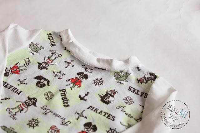chłopiec, piżamka, w czym spać, dzianina dla dzieci, wzorki na dzianinie