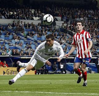 Cristiano no le marca al Atlético en partidos de Liga