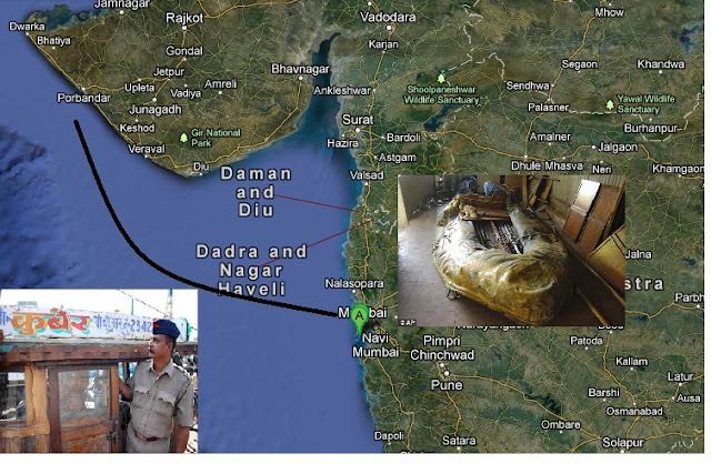 Kasab came in Marine vessel &quot;Kuber&quot;, hijacked by terrorists to reach city coast