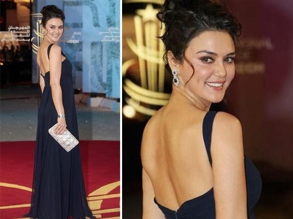 Preity Zinta Backless photo looks Super sexy