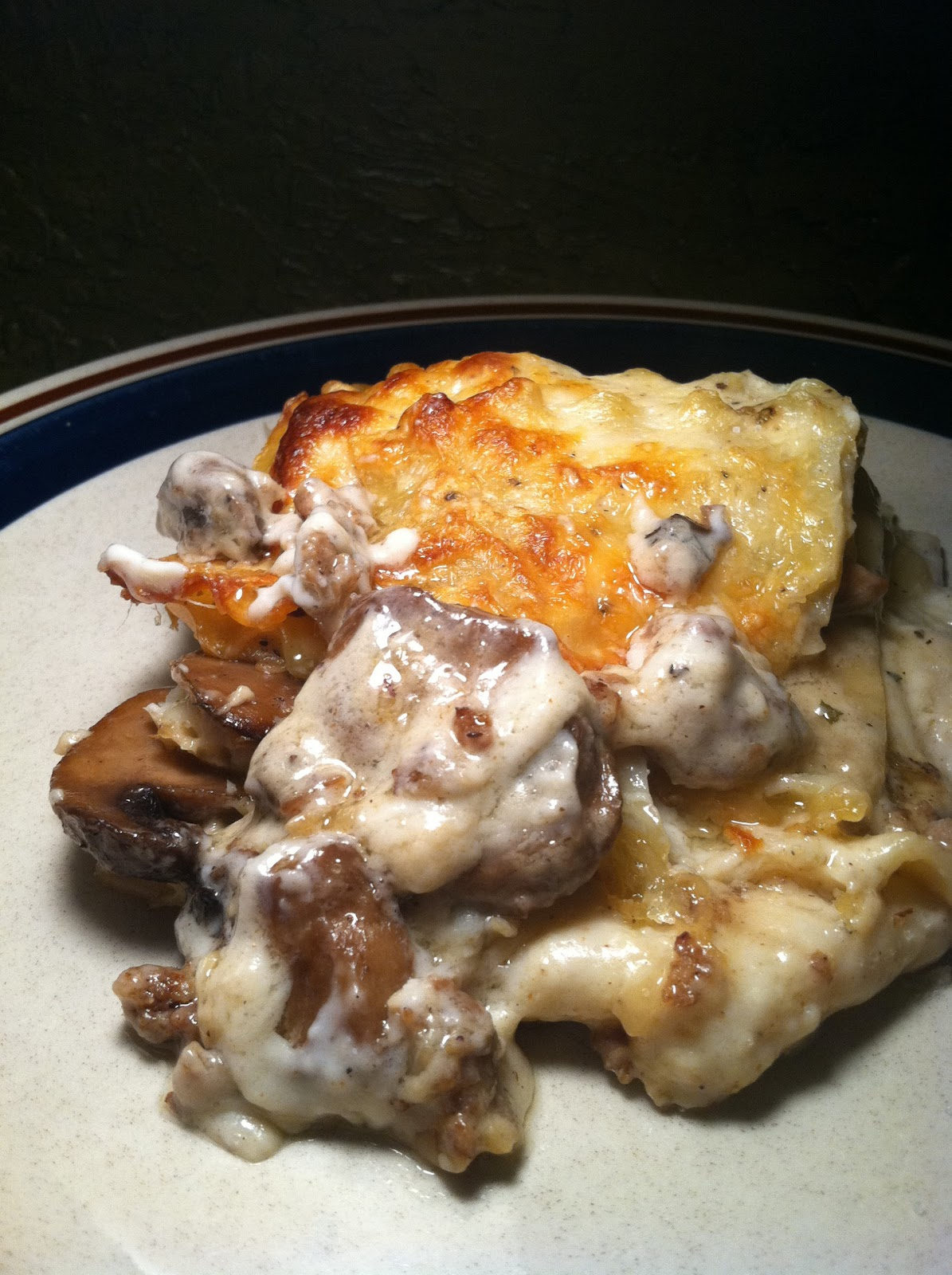 Twirl and Taste: Cheesy Creamy Mushroom Lasagna - a big sexy dish with ...