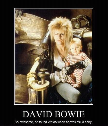 David Bowie - So Awesome, He Found Waldo When He Was Still A Baby