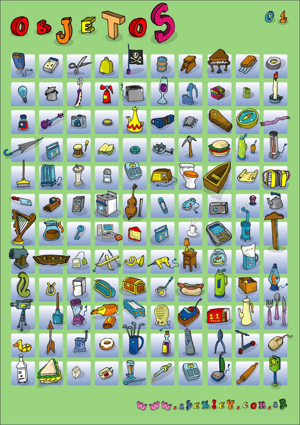 Ilustrador alexiev gandman colecci n de objetos for Espejo que no invierte la imagen