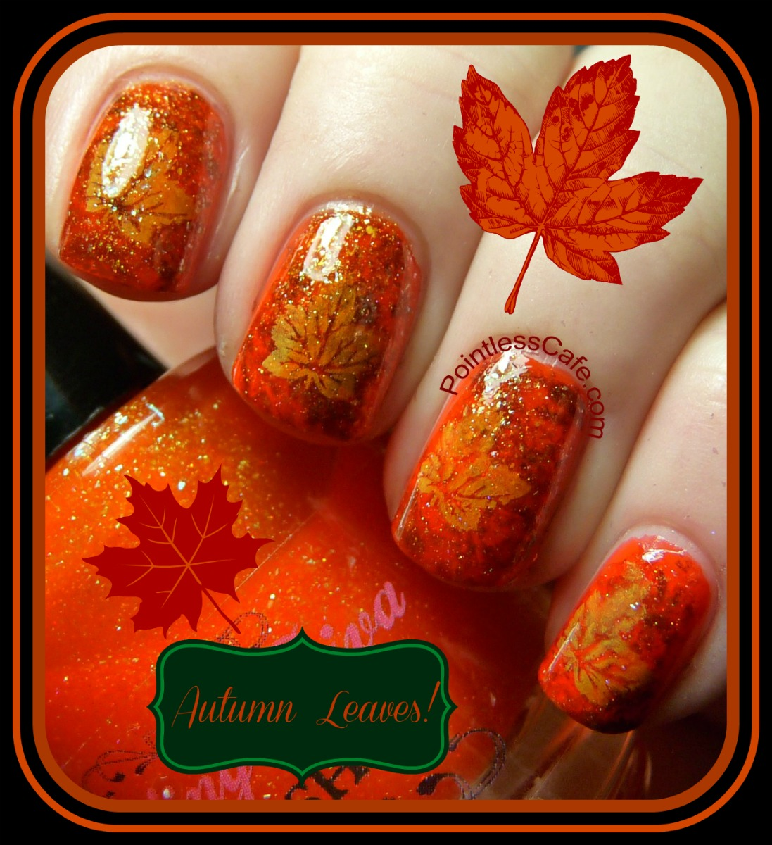 Autumn Leaves Nail Art | Pointless Cafe