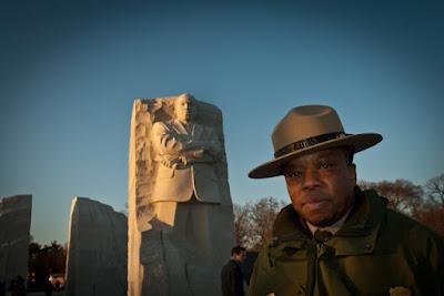 MLK Memorial. John McCaskill, Park Ranger.