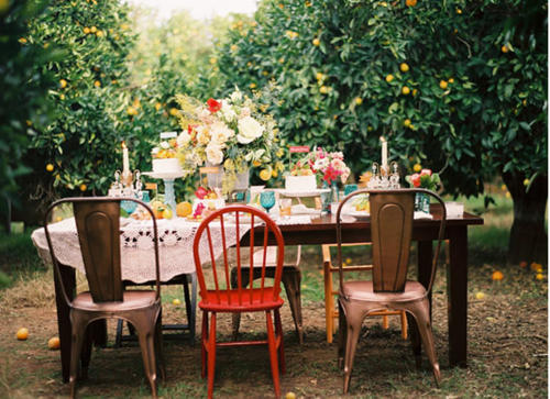 Wedding Party Mismatched Chairs
