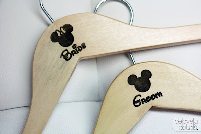 Blogiversary Giveaway #2 - Disney Bride and Groom Hangers from Delovely Details