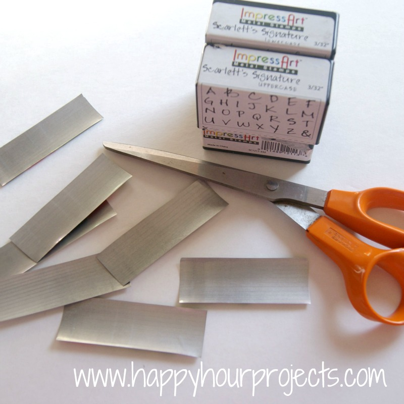 Hand stamped gifts tags with impressart metal stamps
