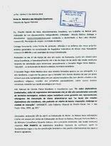 Carta protesto entregue com passaportes na embaixada do Brasil na Bolívia