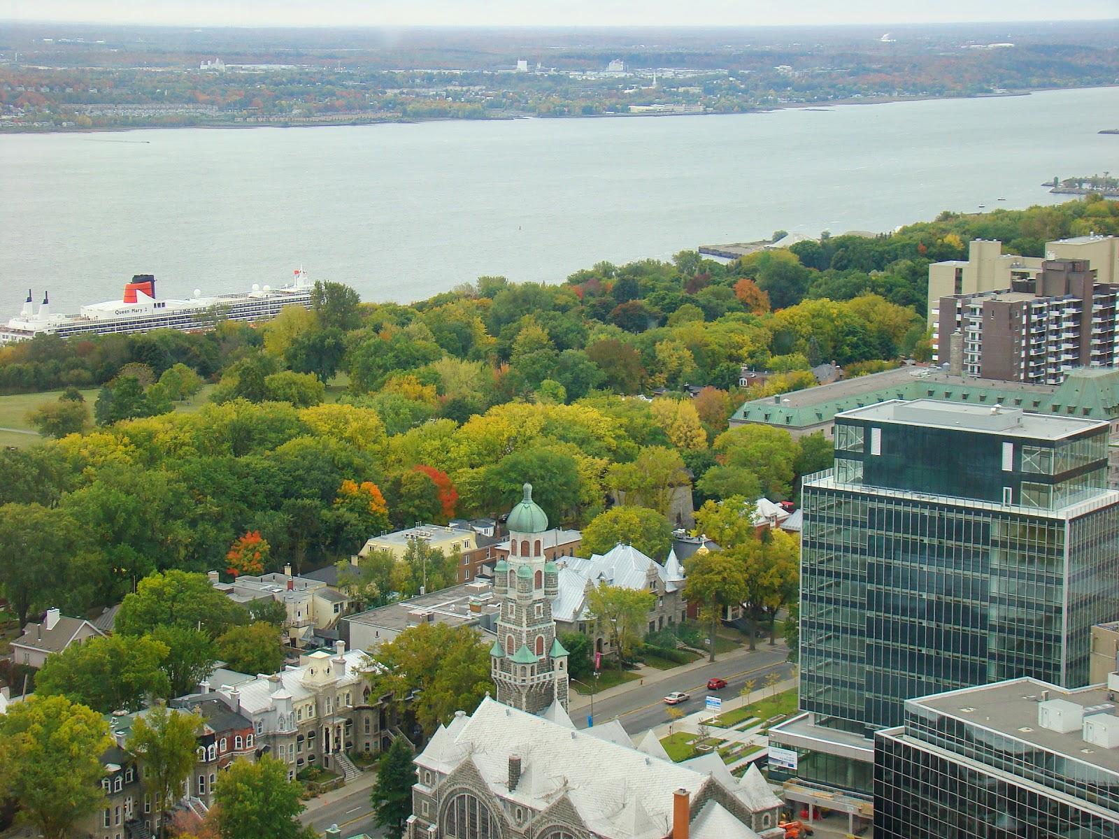 Вид сверху на Квебек