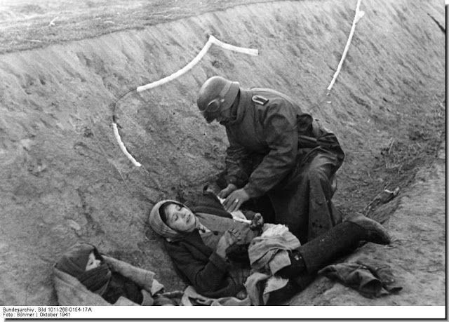German soldier wounded russian woman