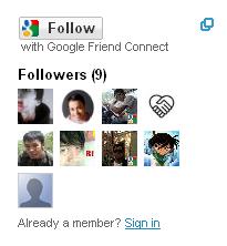 Widget Followers untuk Backlink