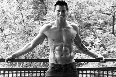 Kenny Braasch shirtless in jeans