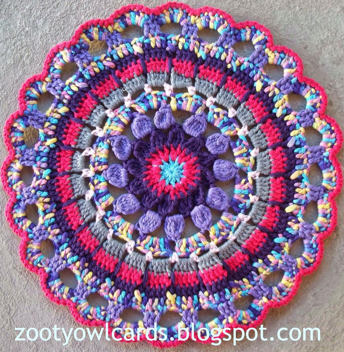 Crochet Patterns For Mandala Yarn : Zooty Owls Crafty Blog: Dahlia Mandala: Pattern