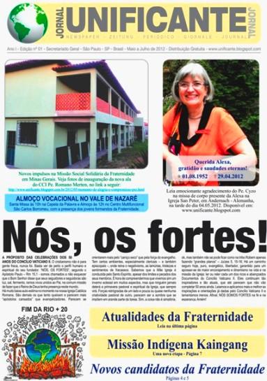 Jornal Unificante - Edição impressa 01 - 2012