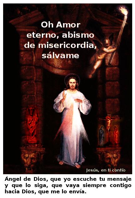 un angelito con antorcha para que mires a jesus misericordioso