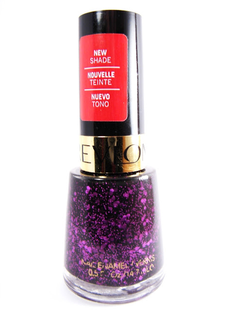 nails nailart nail art polish mani manicure Spellbound Revlon Facets of Fuchsia Deborah Lippmann Bad Romance dupe glitter sequins hex purple micro look-a-like