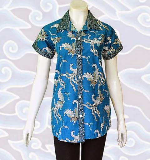 model blus batik kerja kantor