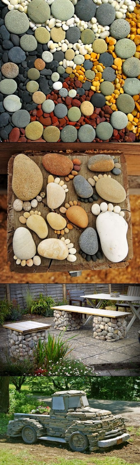 Home made diy2 easy garden diy projects with stones for Homemade garden decor crafts