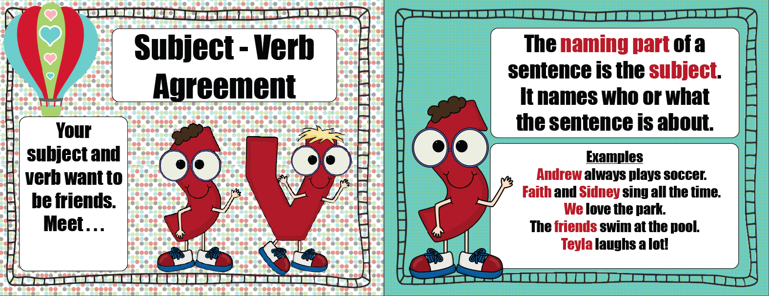Subject Verb Agreement Anchor Chart Mersnoforum