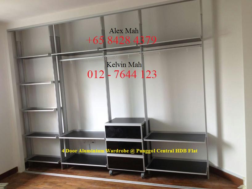 Malaysia And Singapore Renovation Aluminium Wardrobe And Aluminium Kitchen Cabinet