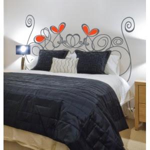 Hazte un cabezal original y econ mico decora y divi rtete - Vinilos cabezal cama ...