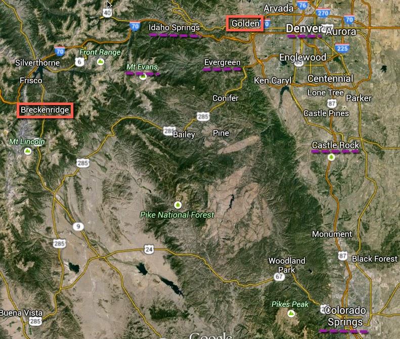 Colorado Springs Or Denver Where Should You Live: Pedal Dancer®