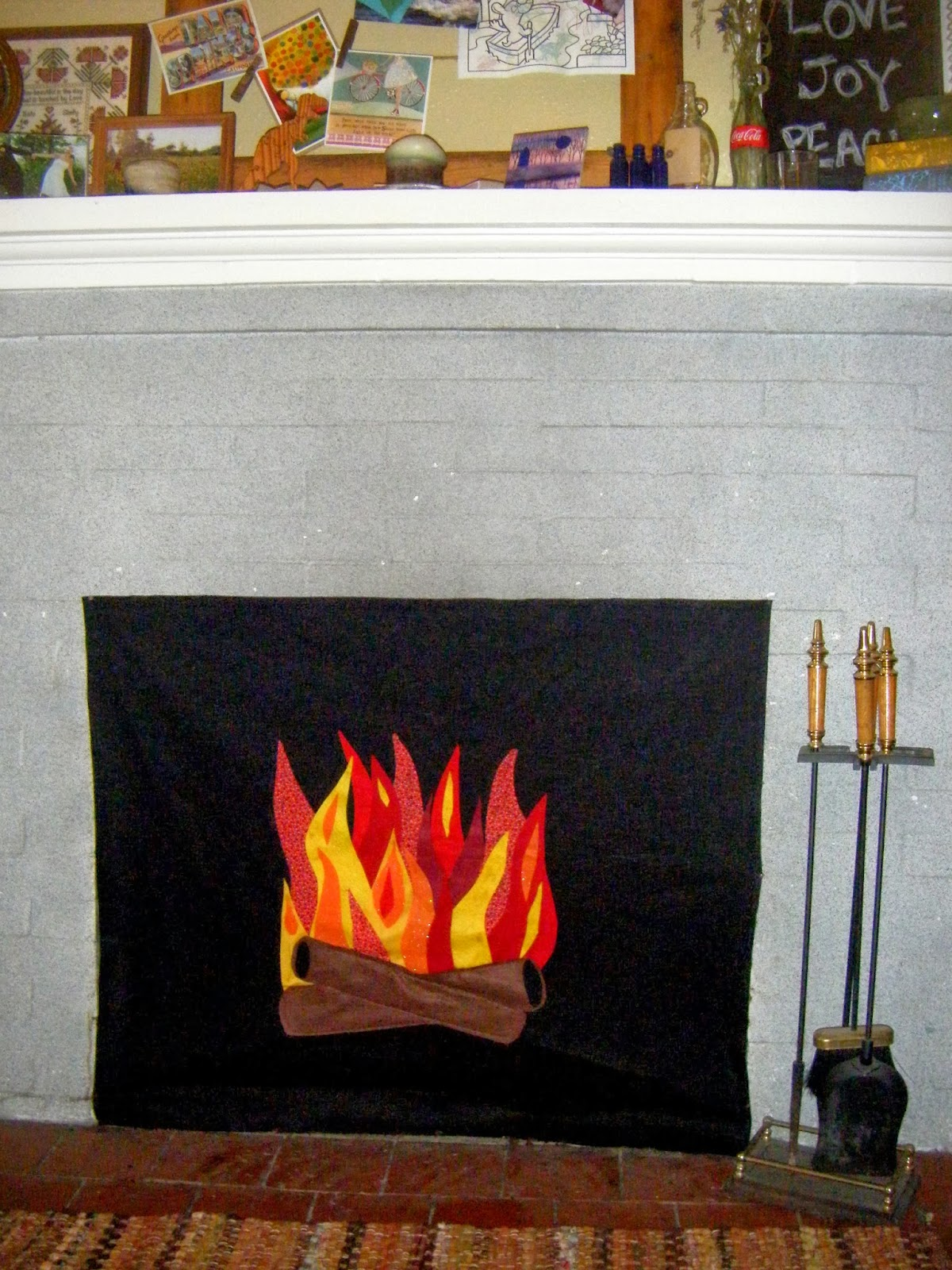 shellmo faux fire fireplace insert