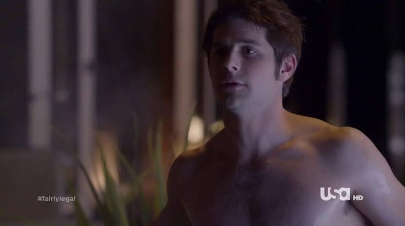 Ryan Johnson Shirtless in Fairly Legal s2e11