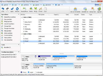 Easeus Partition Master Home 3