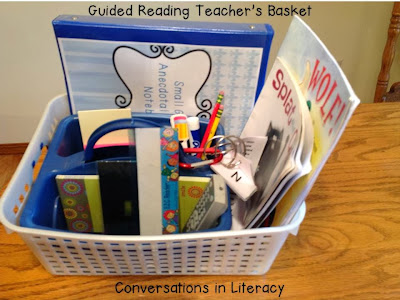 what to keep in your guided reading basket
