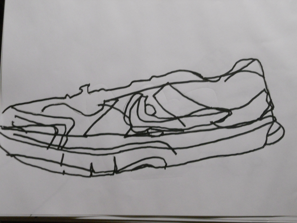 Line Drawing Shoes : William schipke s blind contour or line