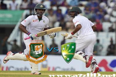 Bangladesh Vs Australia Test Series 2015 Fixture & Live Match